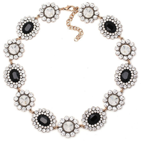 Elizabeth Statement Necklace - Black