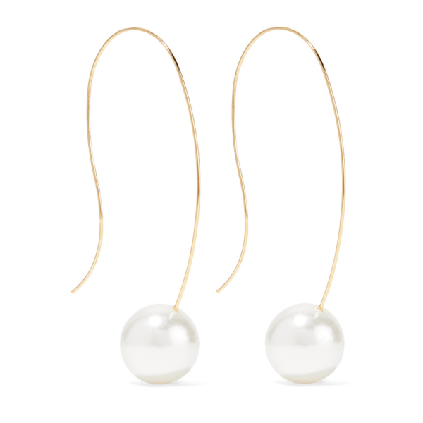 Elle Pearl Wire Earrings