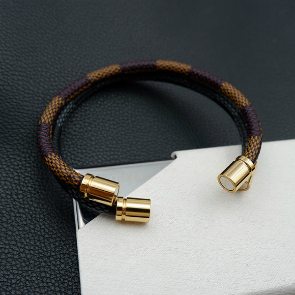 Elveene Leather Magnetic Bracelet - Round