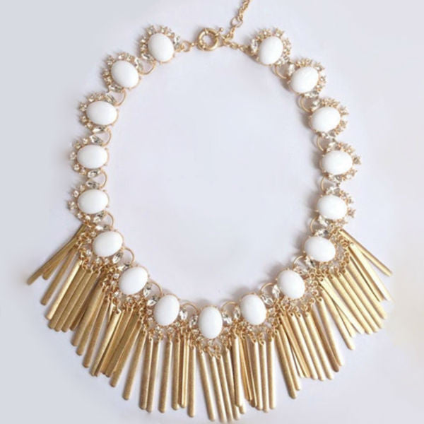 Estelle Statement Necklace - White