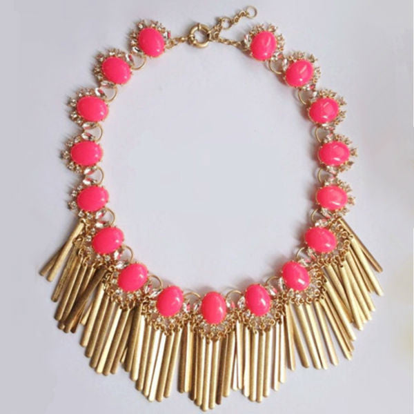 Estelle Statement Necklace - Coral