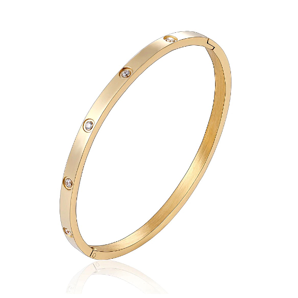 Eternity Bangle Bracelet - Stainless Steel