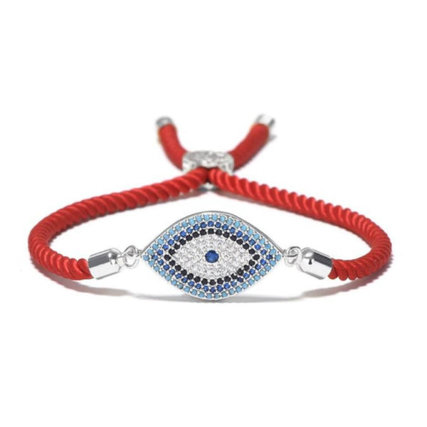 Evil Eye Adjustable Rope Bracelet