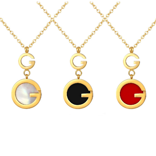 Gigi Pendant Necklace - Stainless Steel