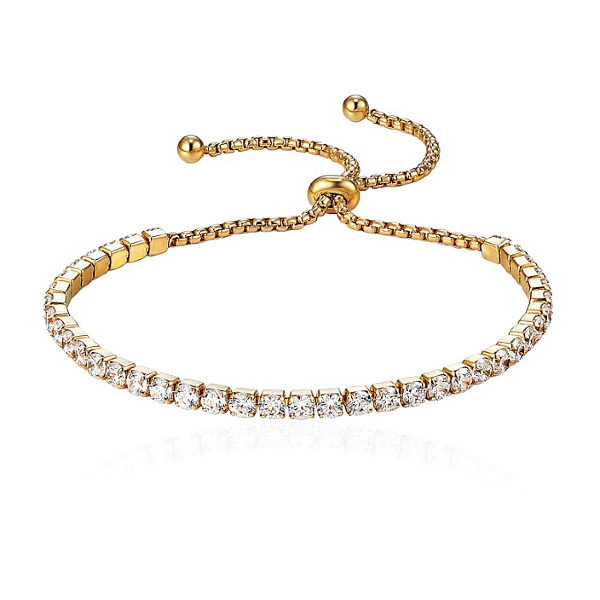Glam Tennis Bracelet - Stainless Steel