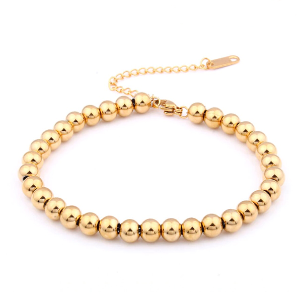 Gold Ball Bracelet - Stainless Steel