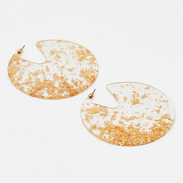 Gold Confetti Earrings