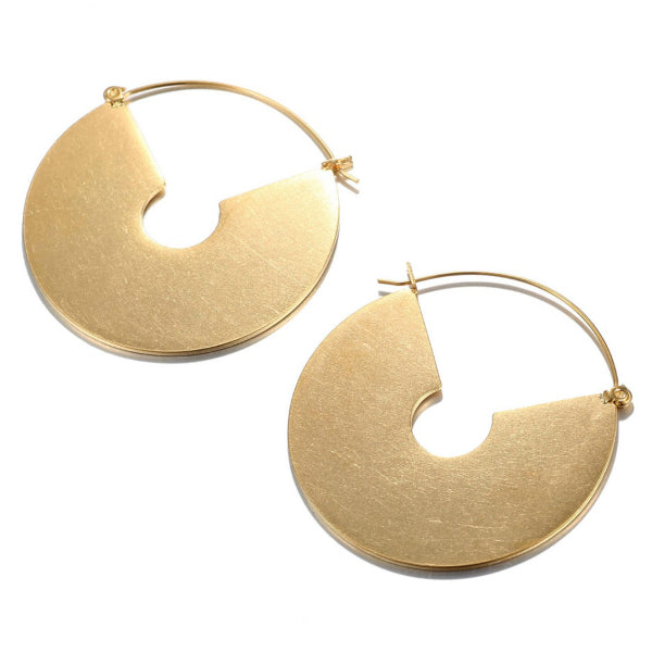 Disc Earrings - Stainless Steel