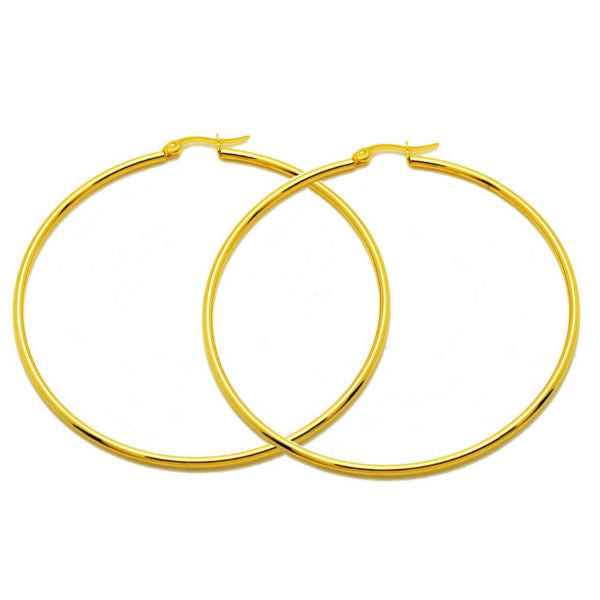 Gold Hoop Earrings - Stainless Steel