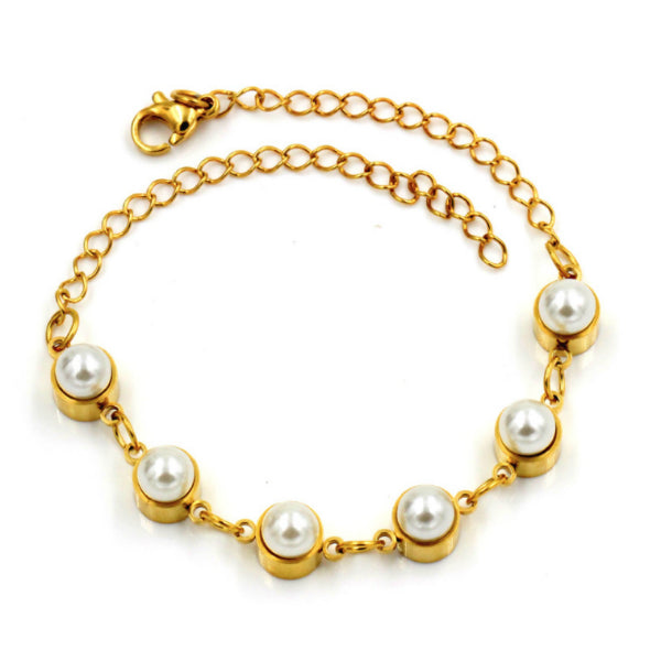 Grand Pearl Bracelet - Stainless Steel