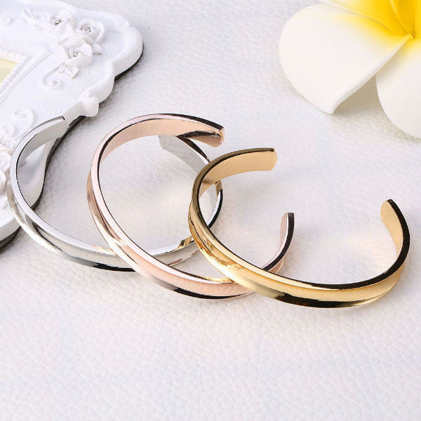 Hair Tie Cuff Bracelet Holder - Stainless Steel