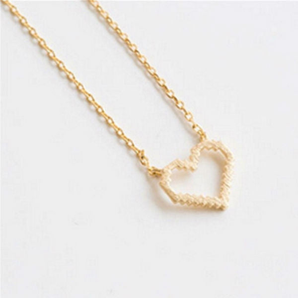 Pixel Heart Dainty Necklace - Stainless Steel