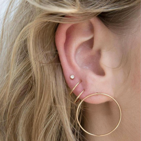 Hoop and Stud Earrings Set