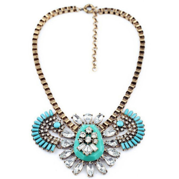 Ingrid Statement Necklace - Blue