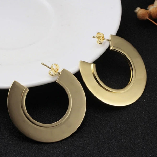 Kai Hoop Earrings - Stainless Steel