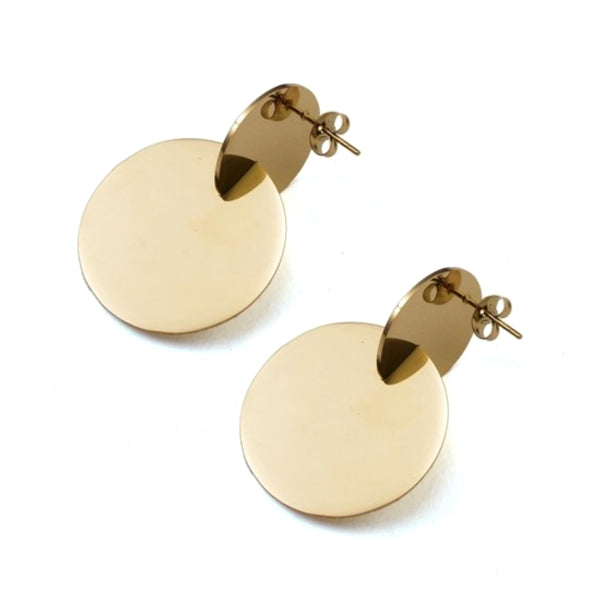 Kayla Disc Earrings - Stainless Steel
