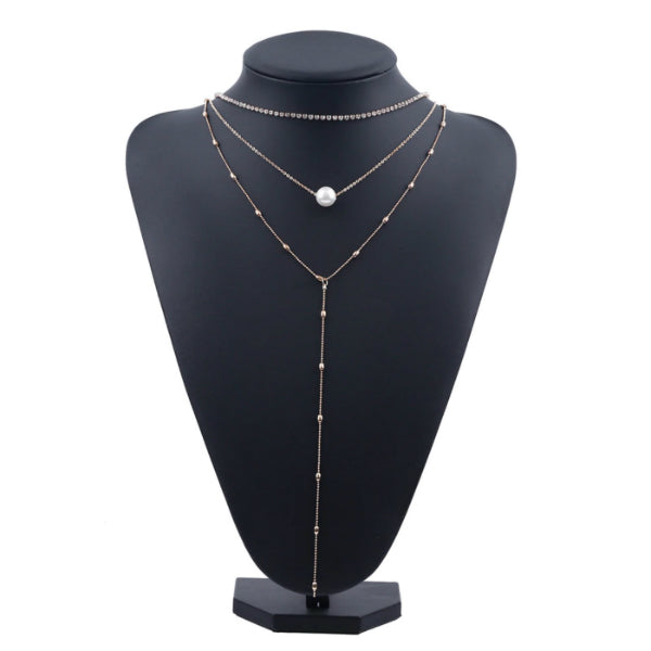 Khloe Multi-Layered Choker + Lariat Necklace