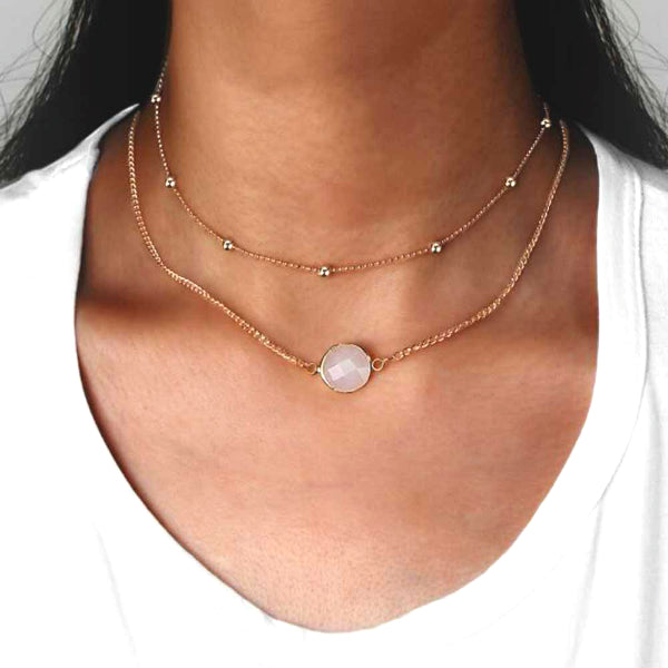 Kourtney Layered Choker + Necklace