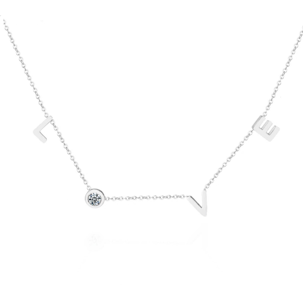 L O V E Dainty Necklace - Stainless Steel