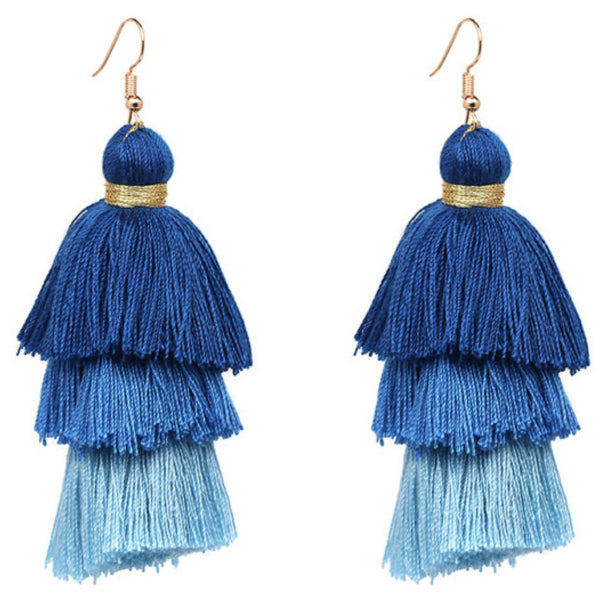 Layered Tassel Earrings