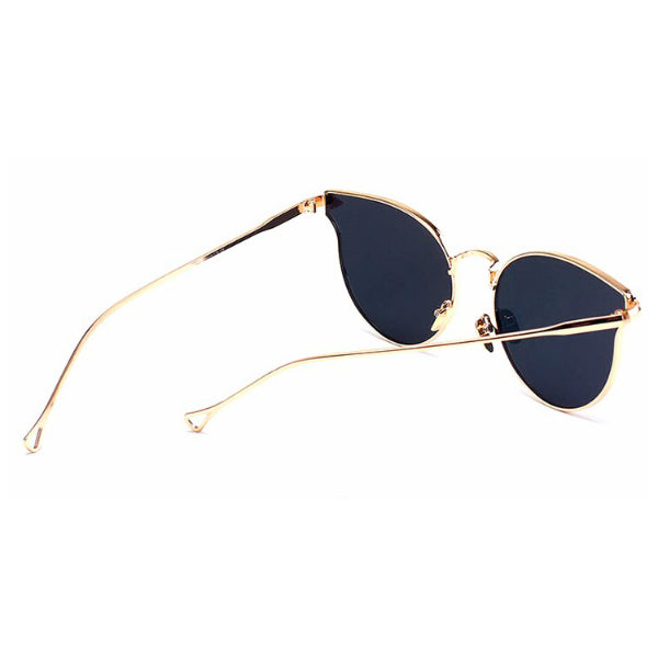 Lucca Sunglasses - Rose Gold Mirror