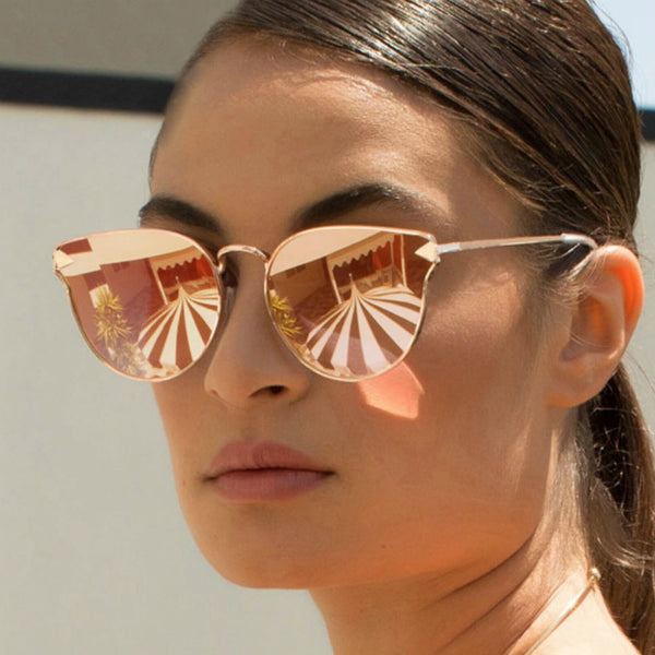 Lucca Sunglasses - Gold Mirror