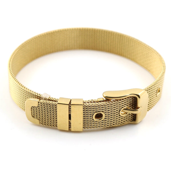 Mesh Belt Bracelet - Stainless Steel
