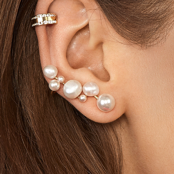 Pearl Crawler Earrings