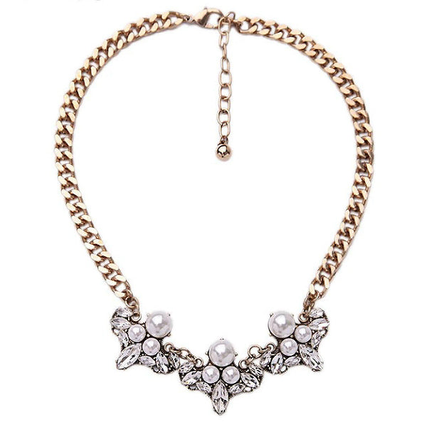 Pearls & Rocks Statement Necklace