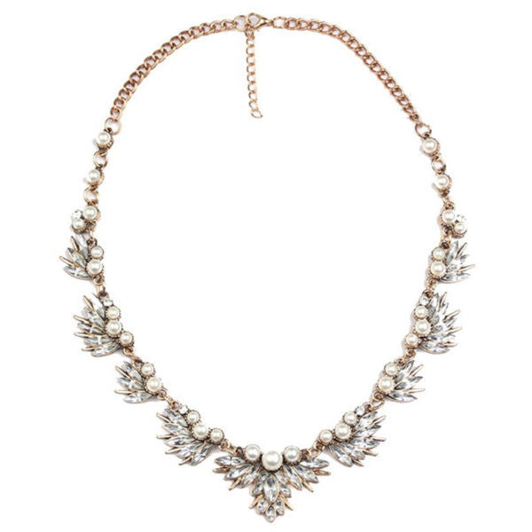 Pearls And Rocks Statement Necklace