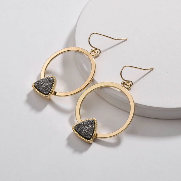 Piper Druzy Earrings