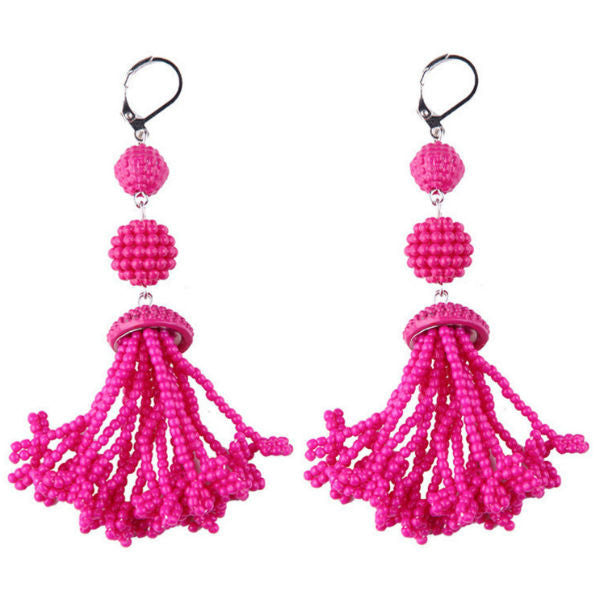 Poppy Tassel Earrings