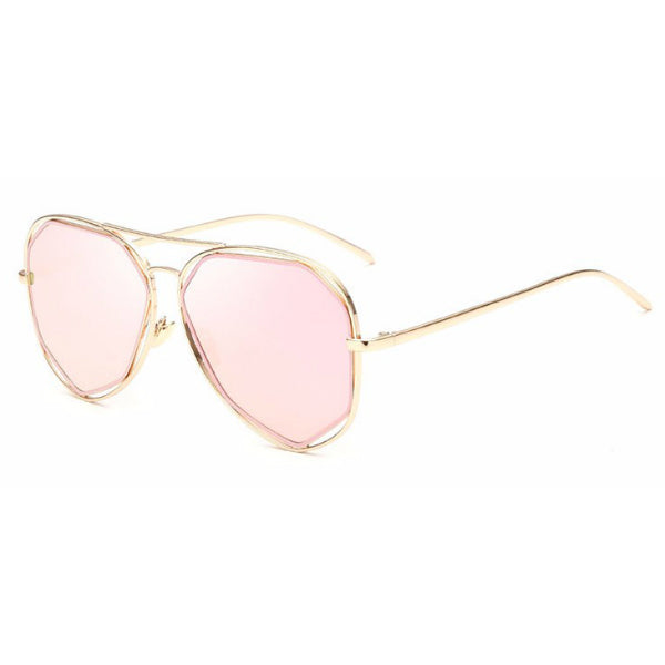 Positano Sunglasses - Rose Gold Mirror