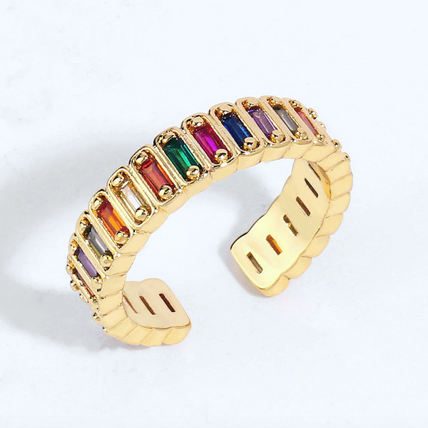 Rainbow Adjustable Ring / Midi Ring
