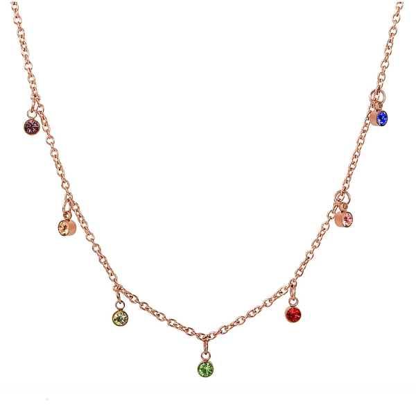 Rainbow Dainty Necklace - Stainless Steel