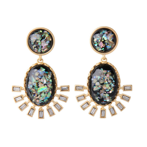 Roma Earrings - Black