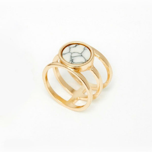 Round Marble Effect Ring