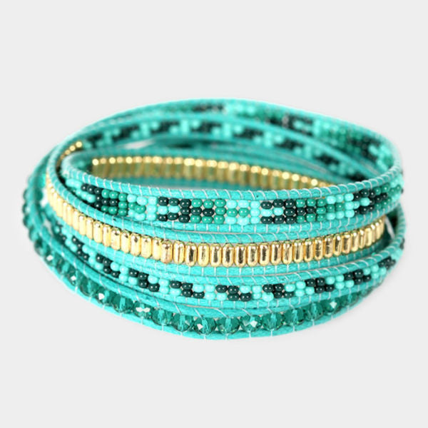 Royal Four Wrap Bracelet - Teal