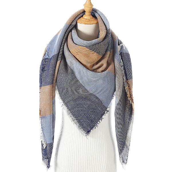 Rugged Blue Triangle Scarf