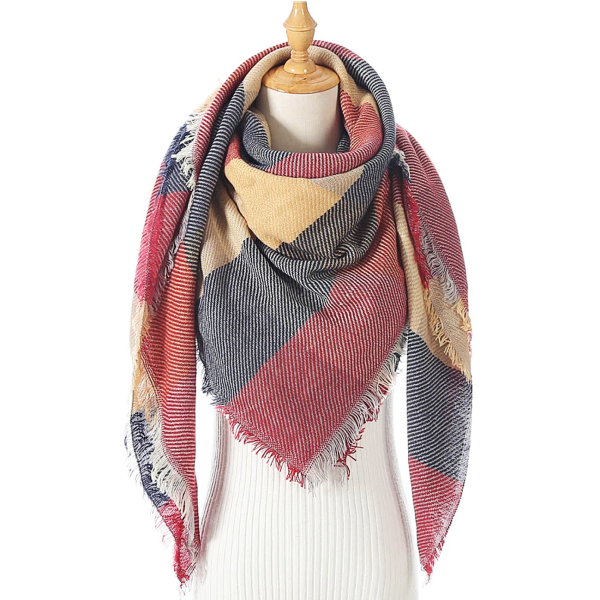 Rugged Red Triangle Scarf