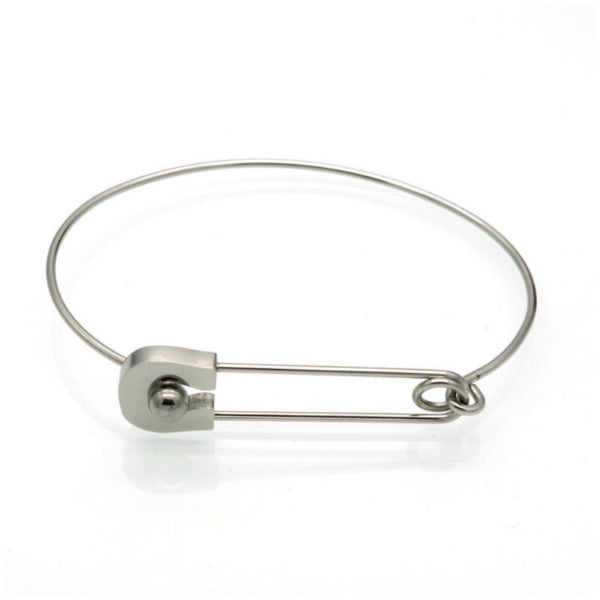 Safety Pin Bracelet - Stainless Steel
