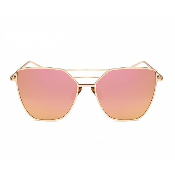 Salerno Sunglasses - Rose Gold Mirror