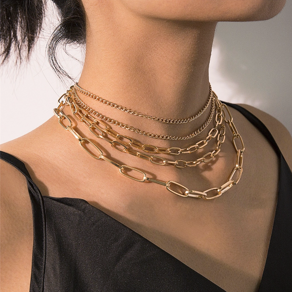 Scarlett Link Layered Necklace