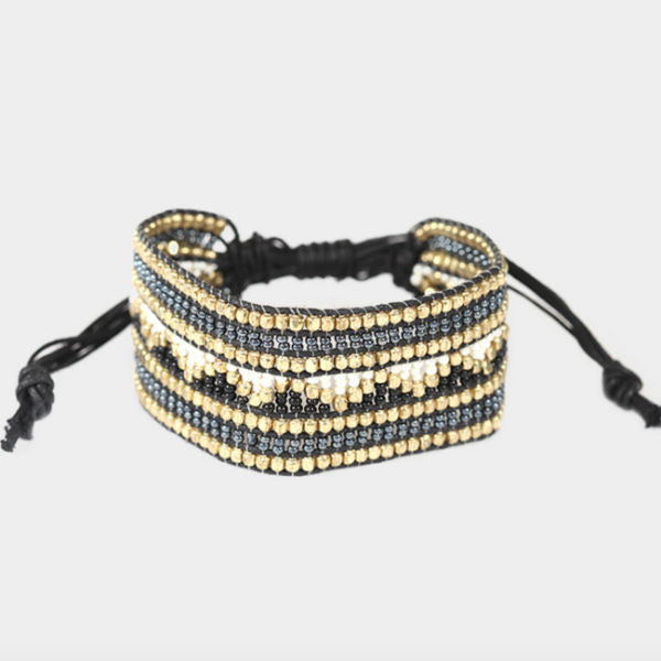 Shasta Beaded Bracelet - Black