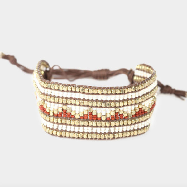Shasta Beaded Bracelet - Brown