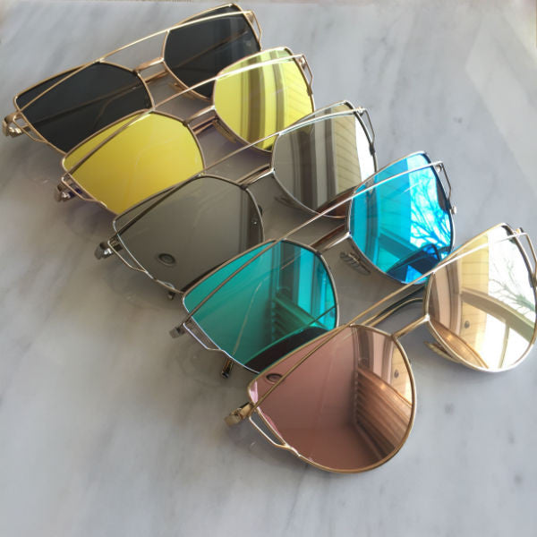 Siena Sunglasses - Blue Mirror
