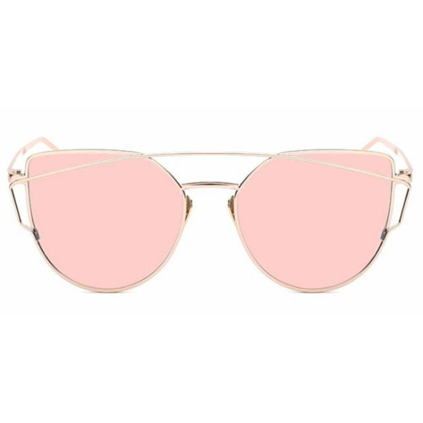 Siena Sunglasses - Rose Gold Mirror