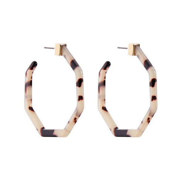 Sierra Resin Hoop Earrings