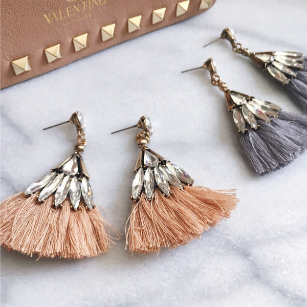 Sparkle and Tassel Earrings