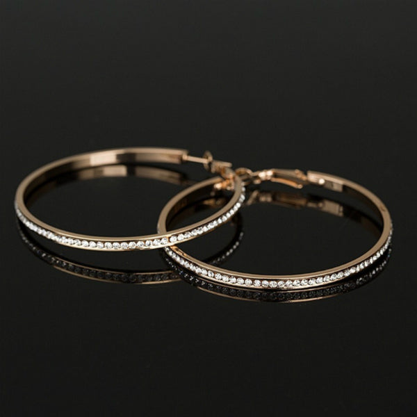 "Sparkly Big 2"" Hoop Earrings"